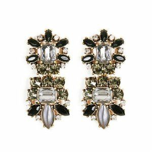 Banana Reublic Noir Nature Crystal Earrings NWT